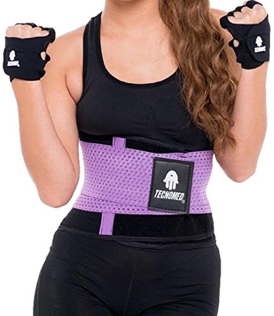 fd8987e5cc5 ShapEager Body Shaper Faja TECNOMED Belt Back Brace Waist Cincher  Activewear fitness Weight Lift Workout Lower Back Support Abdominal Reducer  High Control ...