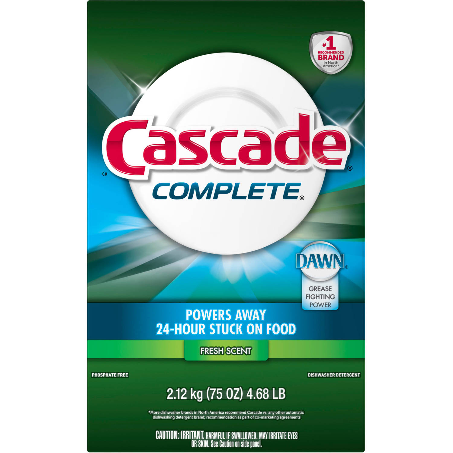 Cascade All In 1 Complete Dishwasher Dish Detergent, 75 oz