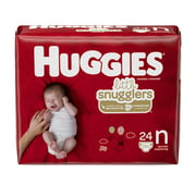 Huggies Little Snugglers Baby Diapers, Size Newborn, 24 Ct, Convenience Pack