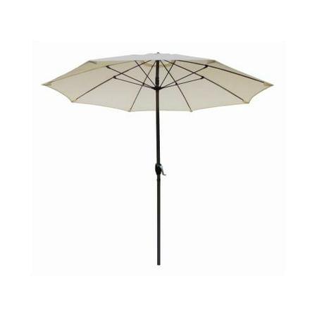 March Products ATAF908117-F11 Patio Market Umbrella, Aluminum Frame, Natural Olefin, 9-Ft. ()