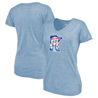 Minnesota Twins Fanatics Branded Women's Cooperstown Collection Huntington Tri-Blend V-Neck T-Shirt - Light Blue