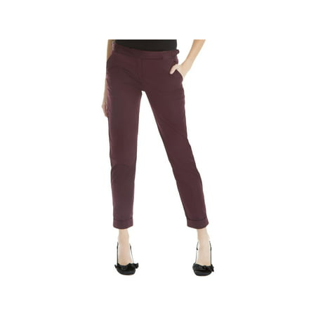 London Women Pants (Max Studio London Womens Roxanne Sateen Tab Waist Ankle)