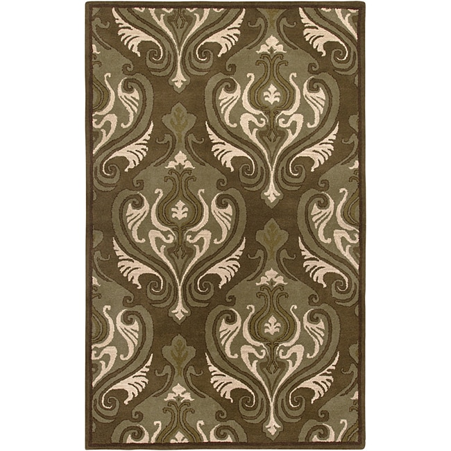 Rizzy Home Hand-Tufted Averlo Brown Oriental Area Rug (5' x 8')