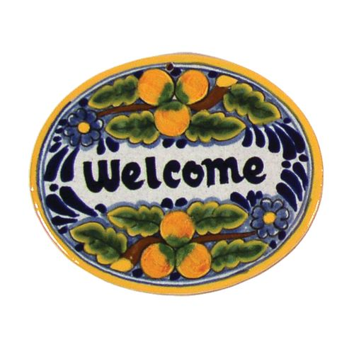 Native Trails TVR7120 Small 'Welcome' Hand Painted Plaque