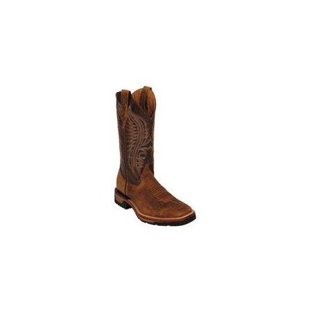 4c309367e73 Ferrini Western Boots Mens Caiman Croc Print Chocolate 40393-09