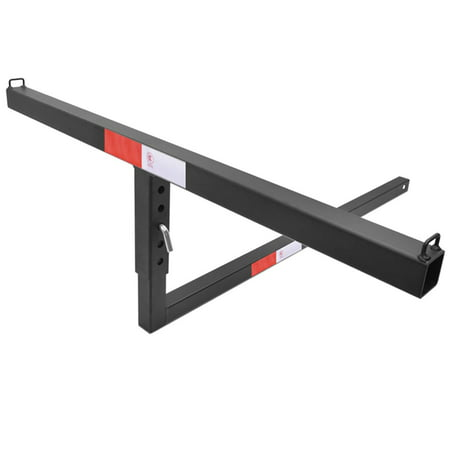 """TAC 2"""""""" Truck Bed Trailer Hitch Mount Extender 500 LBS Capacity Utility Adjustable Universal Pick Up Extension Rack for Kayak Canoe Ladder Lumber Pipes Cargo Carrier Accessories with Pins -  TAC Truck Accessories Company"""