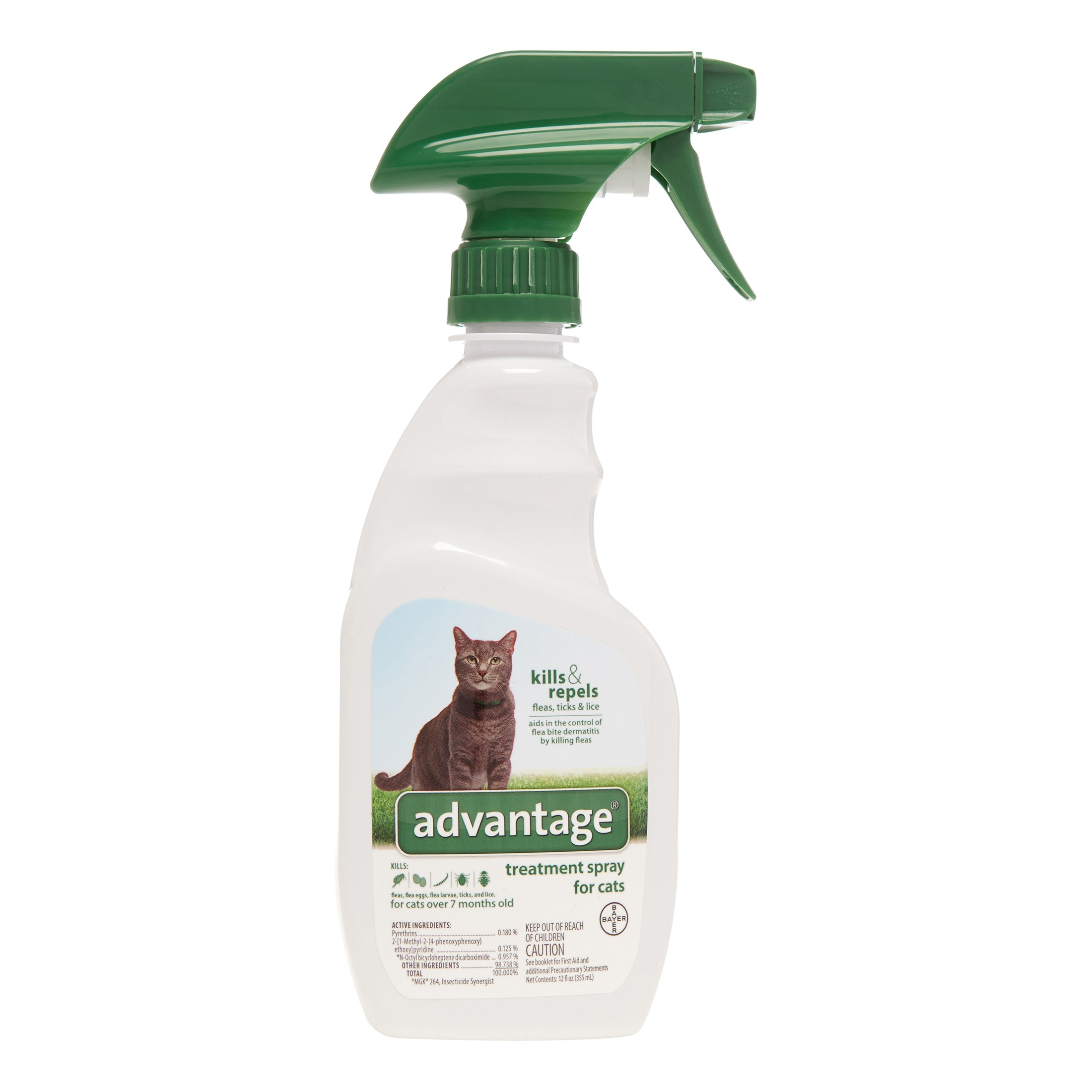 Image of Advantage II Cat/Kitten Flea & Tick Spray, 12 Oz