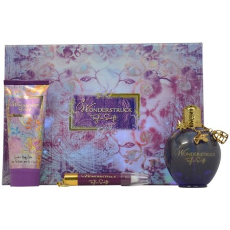 Enchanted Wonderstruck by Taylor Swift for Women - 3 Pc Gift Set 3.4oz EDP Spray, 3.4oz Scented Body Lotion, 0.10oz Solid Perfume Pencil