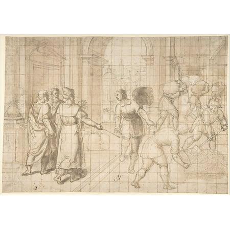 Joseph Storing Grain During the Seven Years of Plenty Poster Print by Patrizio Cajés (Italian Arezzo 1540–1612 Madrid) (18 x 24)