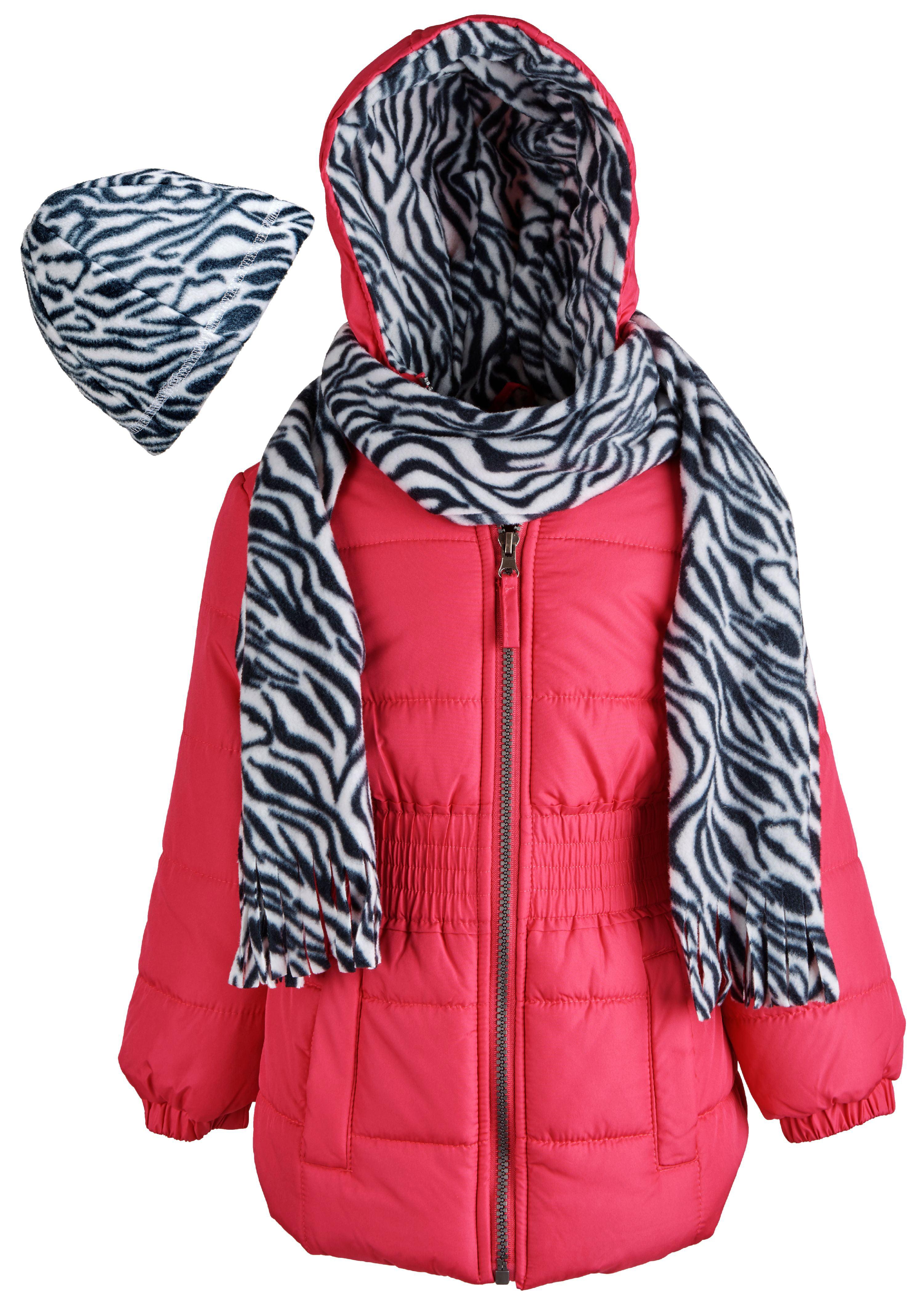 Pink Platinum Girls Warm Down Alternative Fleece Lined Winter Puffer Bubble Coat