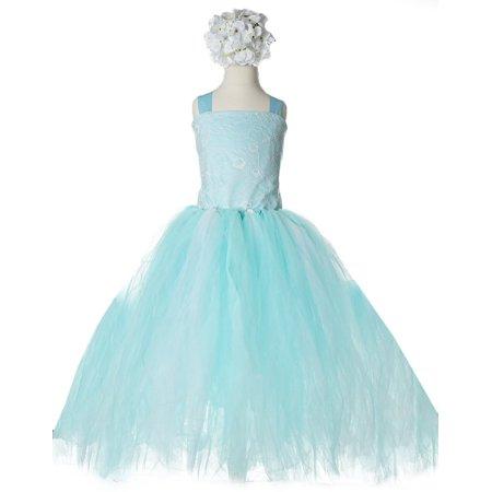 Fairy Flower Dress (Efavormart Fairy Tutu Flower Girl Dress Birthday Girl Dress Junior Flower Girl Wedding Party Gown Girls Dress For Wedding)