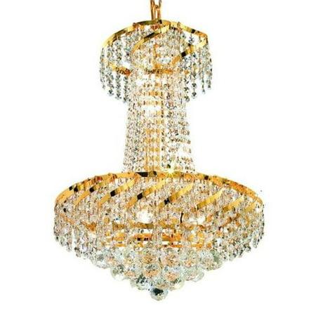 Elegant Lighting VECA1D18G-SS 22 x 18 in. Belenus 6 Light Gold - Belenus 18 Light