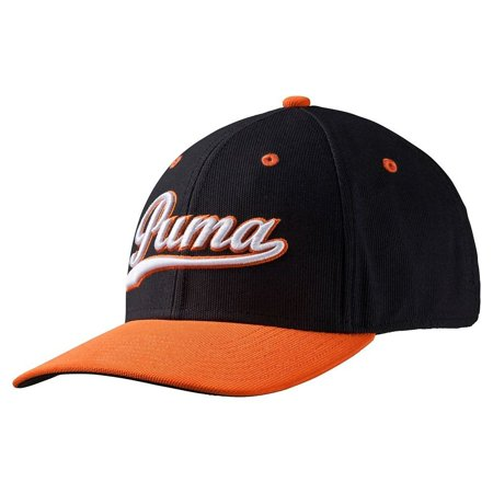 Script Fitted Cap Golf Hat 052960 05 Black Vibrant Orange - L XL ... 9b2806aa0bb