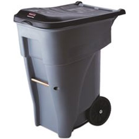 Walmart Outdoor Trash Cans Magnificent Brute Rollout Trash Can With Lid Gray 60 Gallons Walmart