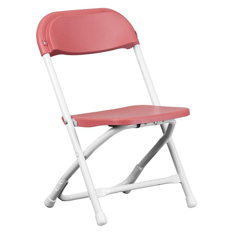 flash furniture kids plastic folding chair - walmart