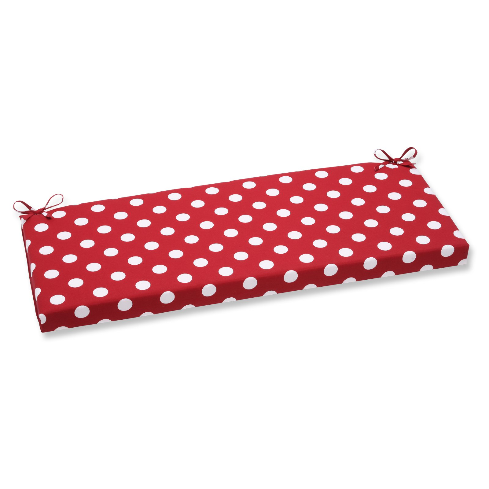 Pillow Perfect Outdoor/ Indoor Polka Dot Red Bench Cushion