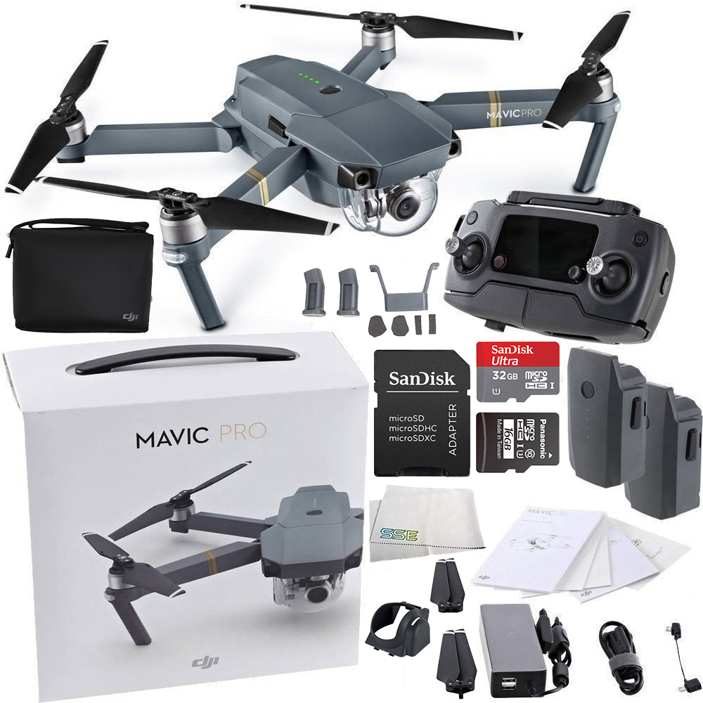DJI Mavic Pro Collapsible Quadcopter Drone Essentials Bundle