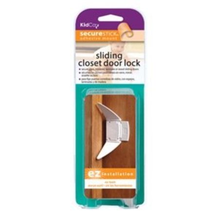 , inc. s339 2 Pack, White, Sliding Closet Door Lock, Use on glass or mirrors By KidCo ()