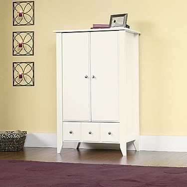 Attirant Shoal Creek Armoire Finish:Soft White