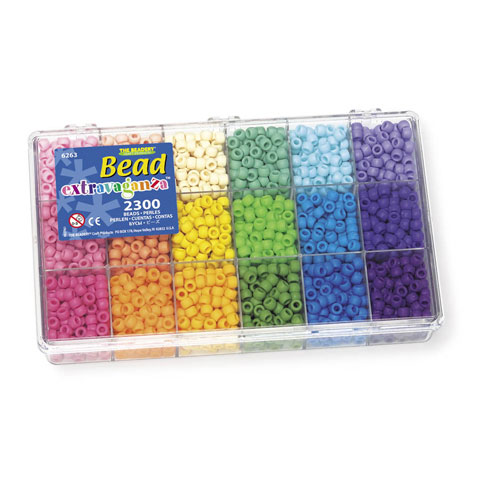 Bead Extravaganza Pony Bead Rainbow Box - 2300 pieces