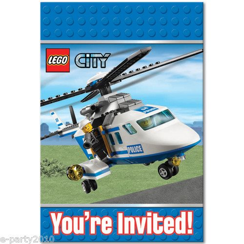 Lego City Invitations W Env 8ct Walmart Com