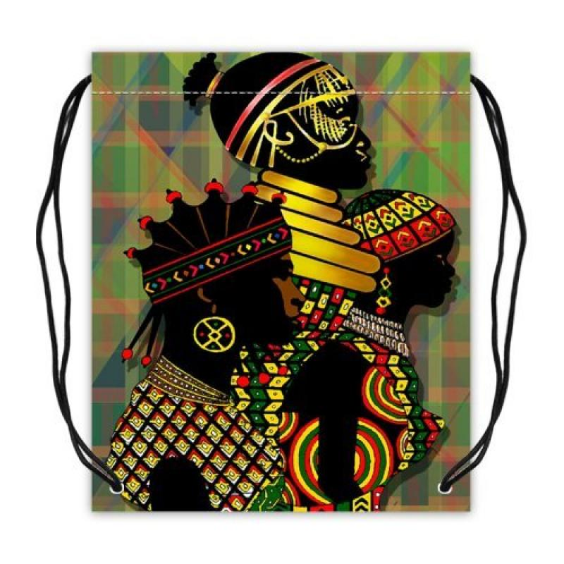 African Woman Collection Drawstring Backpack Basketball D...