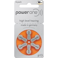 60 Powerone Hearing Aid Batteries Size: 13