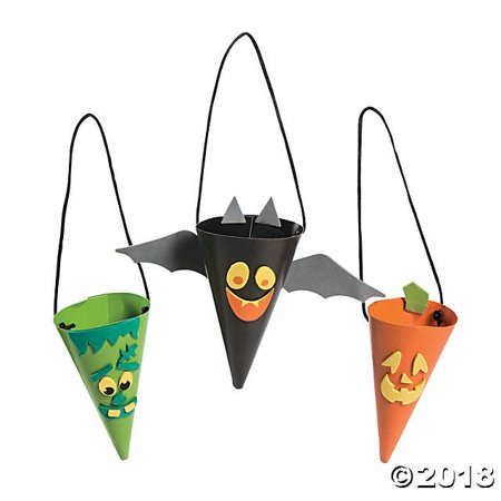 Halloween Treat Cone Craft Kit(pack of 1) - Easy Halloween Crafts And Treats
