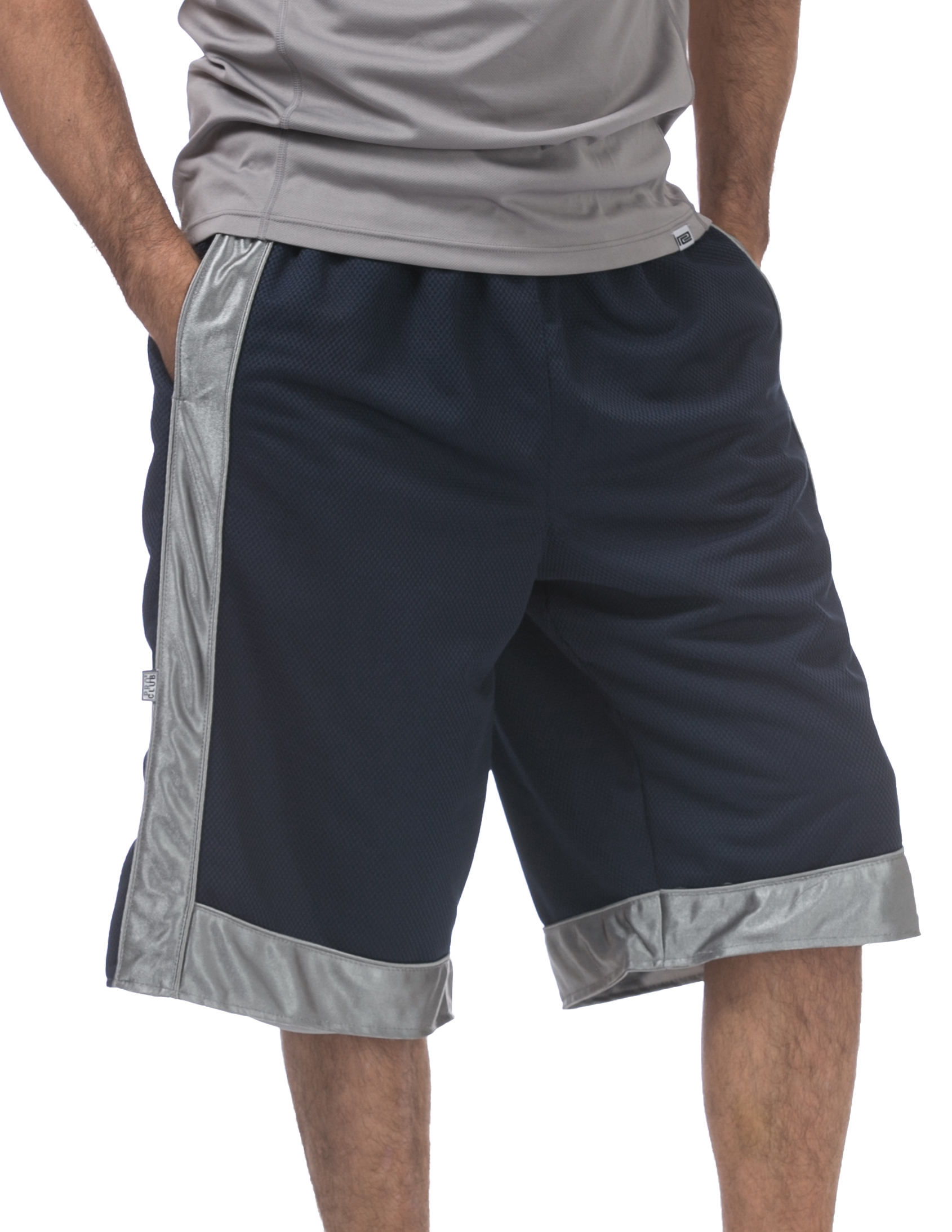 Navy Blue White gym shorts Heavy weight basketball football soccer shorts S-4X