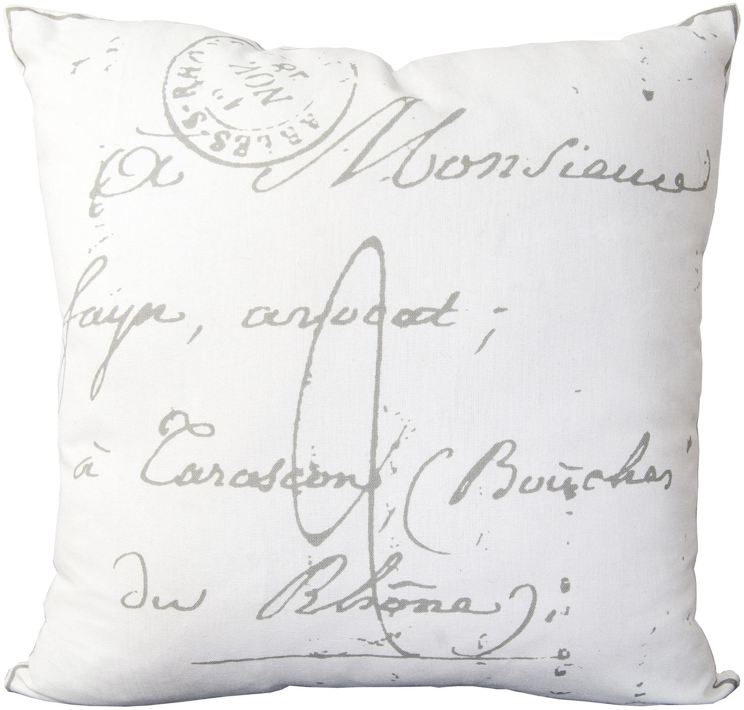 """22"""" Cloud Gray and Ghost White Decorative Throw Pillow"""