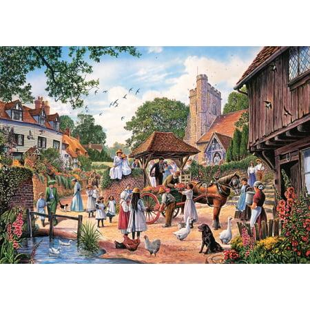 A Village Wedding Poster Print by Steve Crisp ()