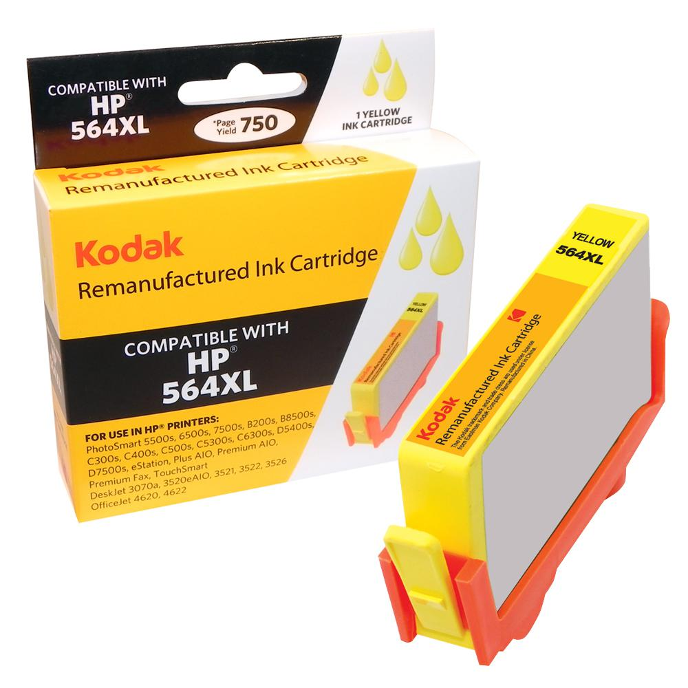 KODAK Remanufactured Ink Cartridge With HP CN687WN High-Yield Yellow
