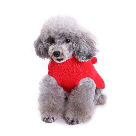 Cute Pet Dog Cat Winter Warm Deer Sweater Coat Costume