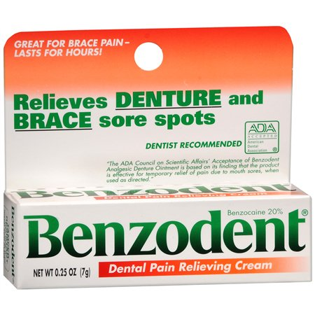 Benzodent Dental Pain Relieving Cream 0.25 oz.(pack of 12)