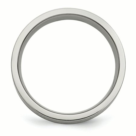 Titanium Flat 6mm 925 Sterling Silver Inlay Brushed Wedding Ring Band Size 10.50 Precious Metal Fine Jewelry For Women Gifts For Her - image 3 of 11