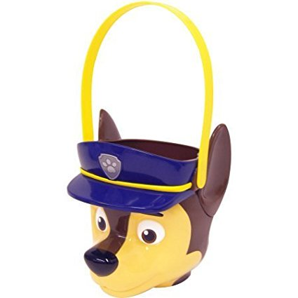 Patrol Chase Plastic 3D Figural Easter Egg Candy Basket, Paw Patrol Chase Plastic Easter Egg Candy Basket By PAW