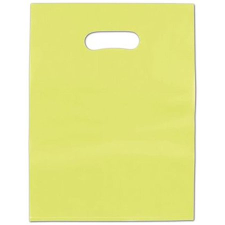 Deluxe Small Business Sales 53-0912-FHD37 9 x 12 in. Frosted High Density Merchandise Bags, Lime Green (Hunter Clearance Sale)