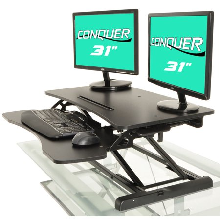 Height Adjustable Standing Desk Monitor Riser Gas Spring Tabletop Sit to Stand - Workstation Riser