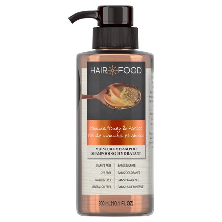 Hair Food Manuka Honey & Apricot Sulfate Free Shampoo, 300 mL Dye Free Moisturizing