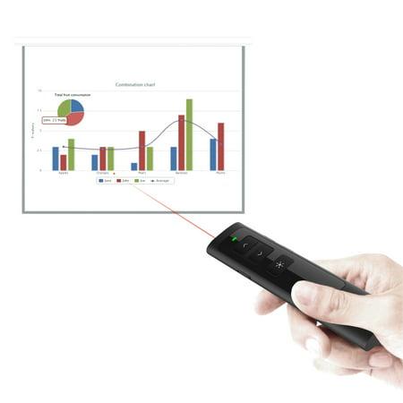 DSIT013 Wireless Presenter Pointer Pen PowerPoint PPT Clicker Rechargeable Presentation Remote Control Black - image 3 de 7
