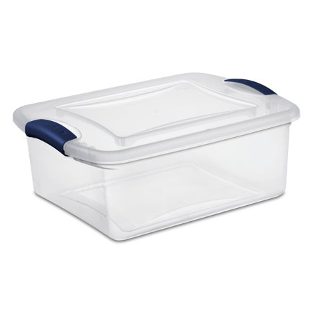 Sterilite 15 Quart Ultramarine Latch Box, 2 Piece