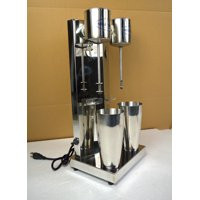 INTSUPERMAI Commercial Milkshake Maker Smoothie Maker Blender Cocktail & Drink Mixer Double Heads Stainless Steel