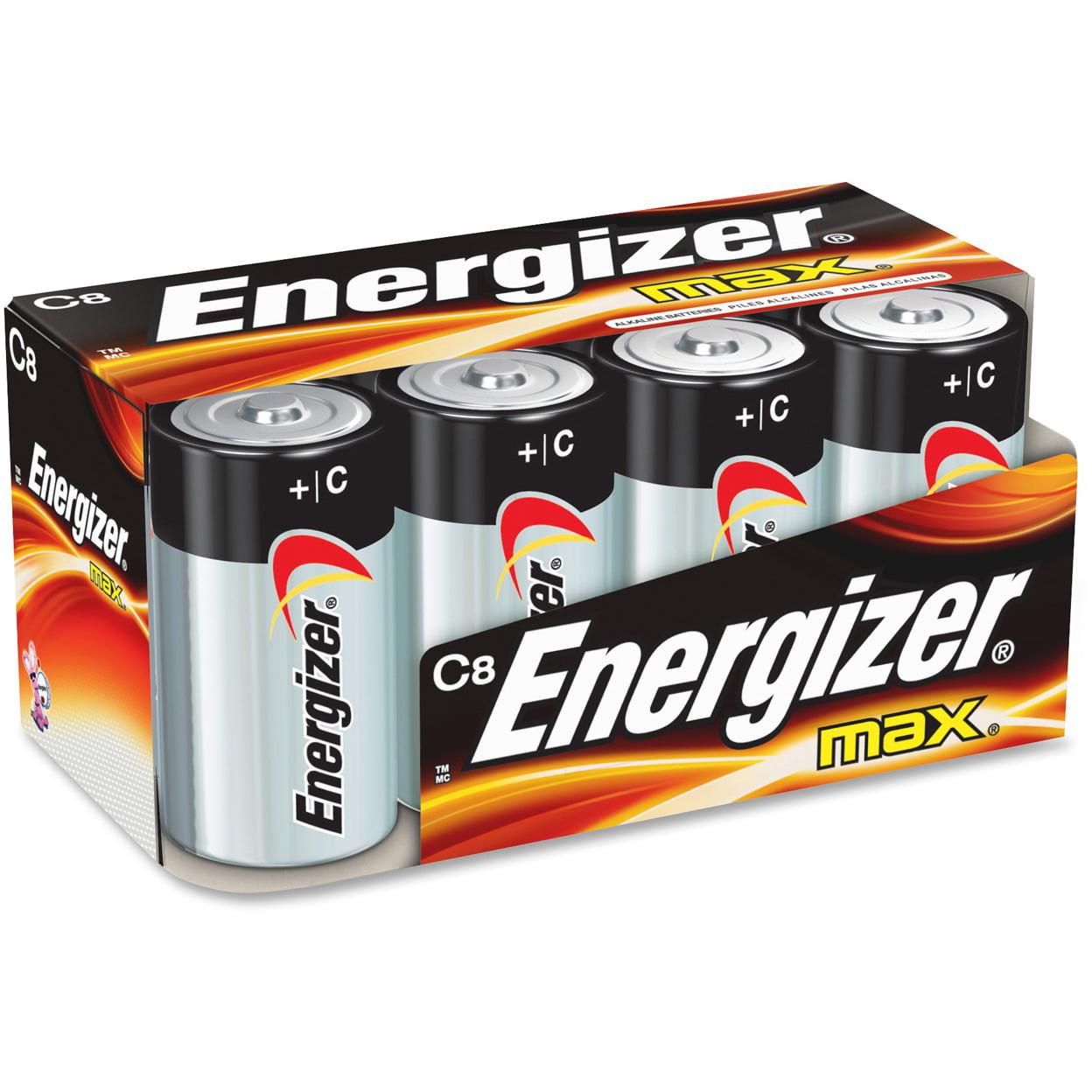 Energizer MAX Alkaline C Batteries, 8 Count