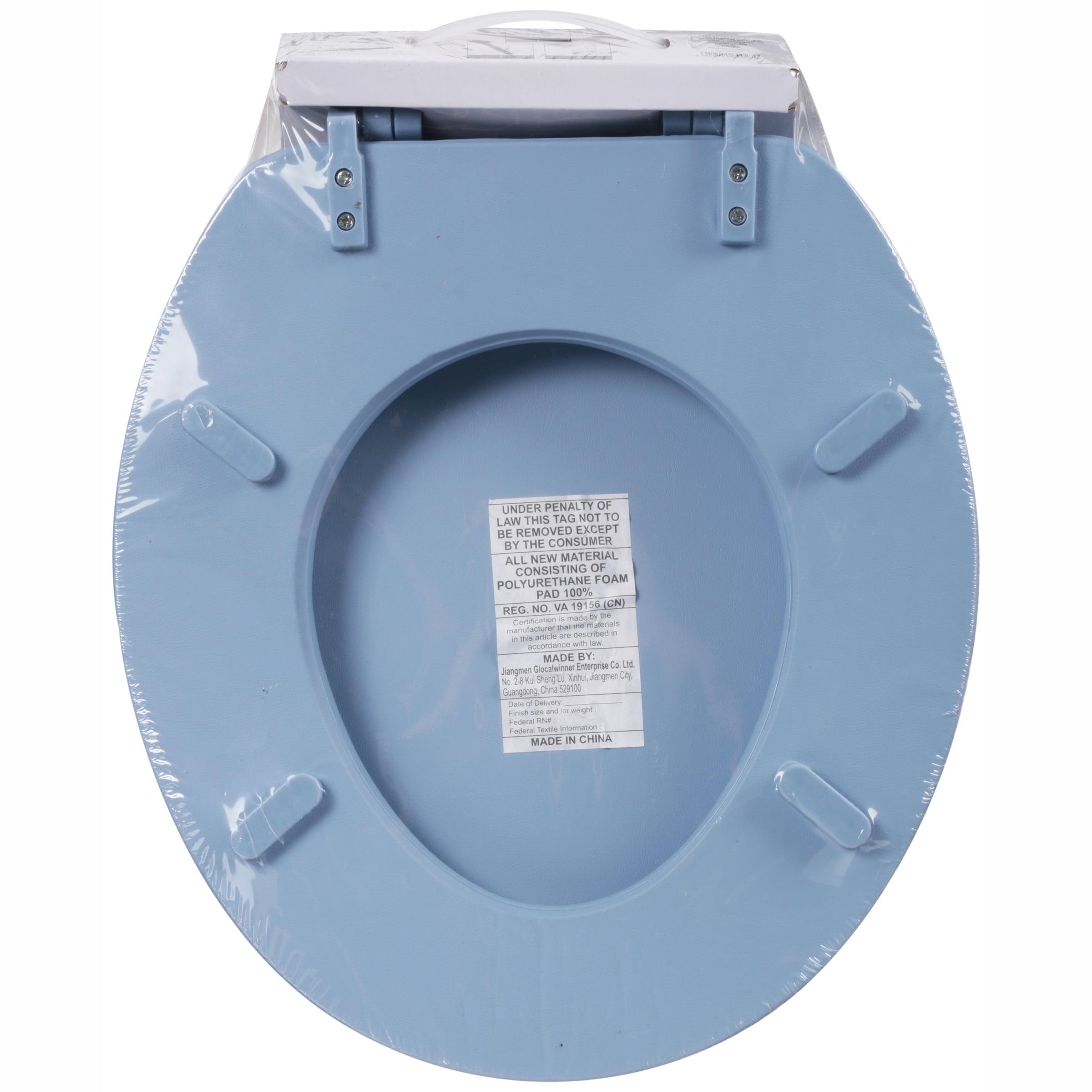 Mainstays Vinyl Soft Blue Toilet Seat