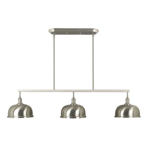 Kenroy Home Alice 3-Light Island-Light, Brushed Steel