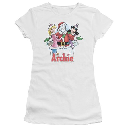 Archie Comics Christmas Cover 223 Betty & Veronica Juniors Sheer T-Shirt Tee