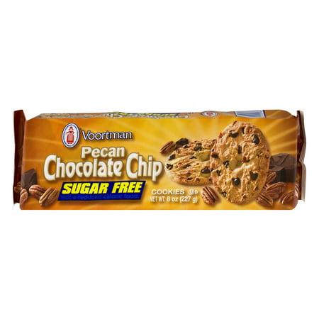 Voortman Sugar-Free Pecan Chocolate Chip Cookies, 8 - Halloween Sugar Cookies On A Stick