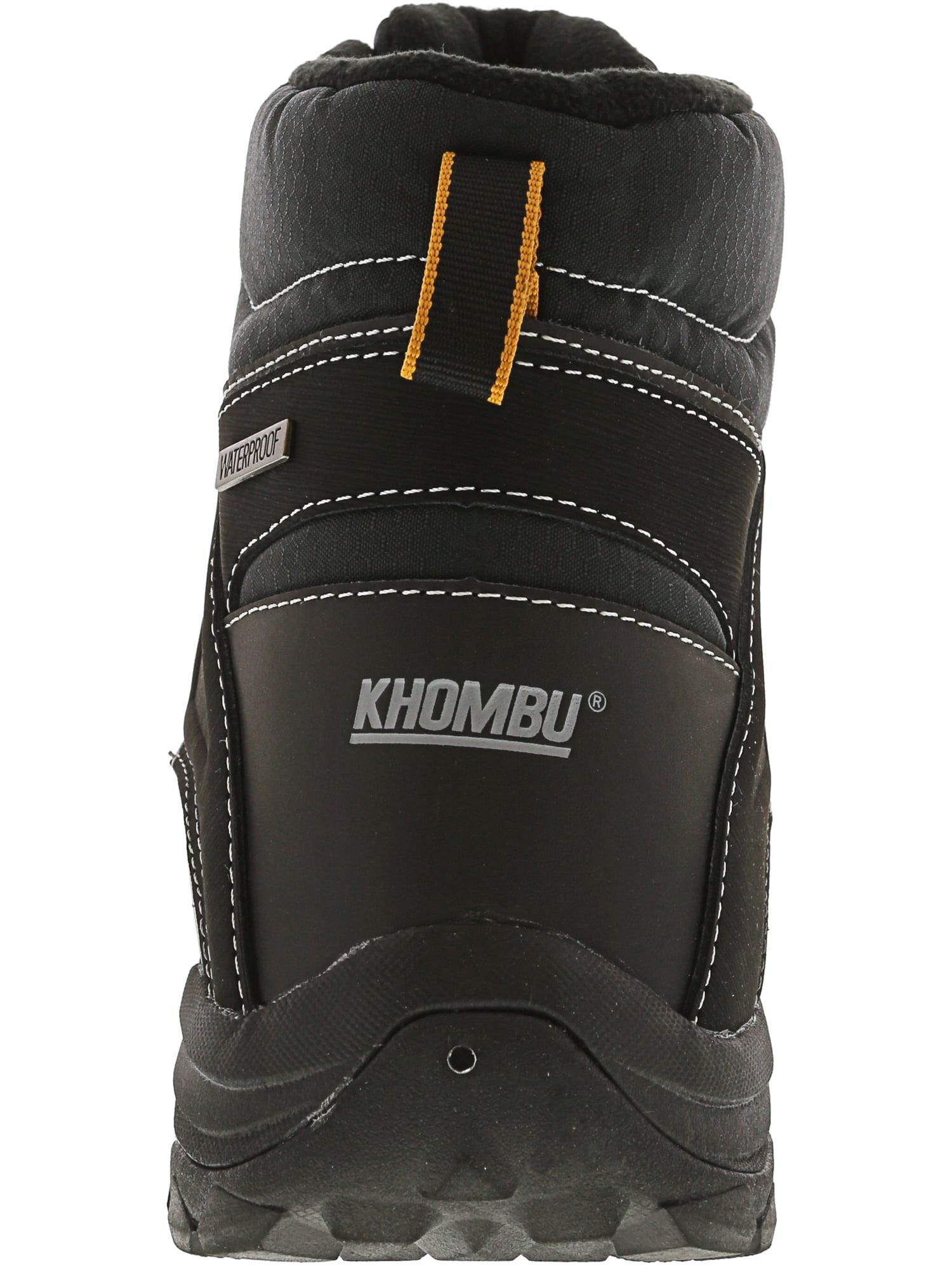 4c9179079858 Khombu - Khombu Men s Fitzroy Black Mid-Calf Snow Boot - 12M - Walmart.com