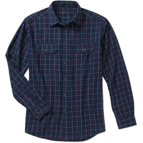 Faded Glory Mens Long Sleeve Flannel Shirt