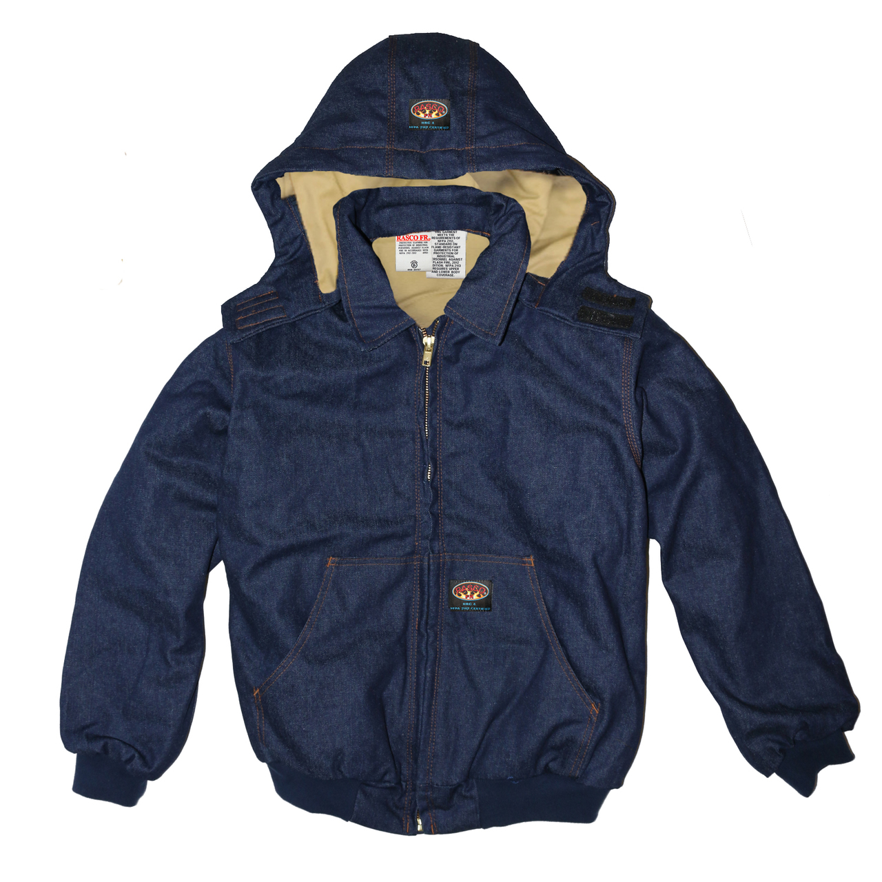 Rasco FR Denim Quilted Hooded Jacket